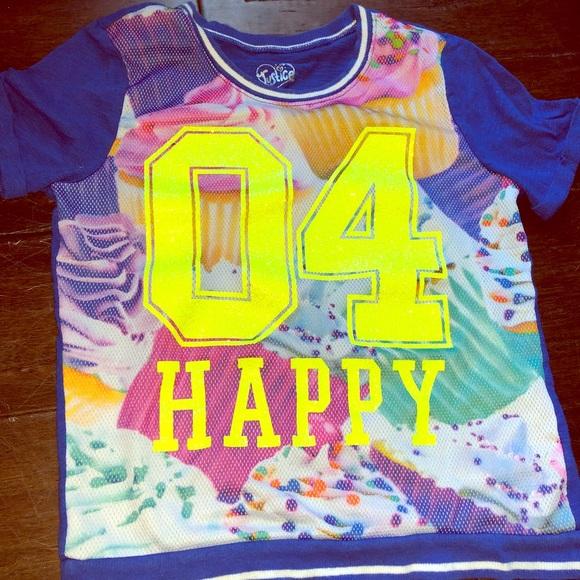 Justice Birthday Shirt Size 10